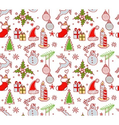 Xmas objects seamless pattern vector image