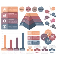 4443 - Infographic Elements 3 14 2 vector image vector image