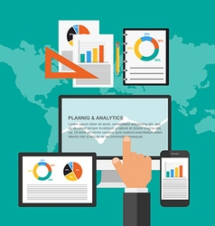 Flat design concept for business planning and vector image