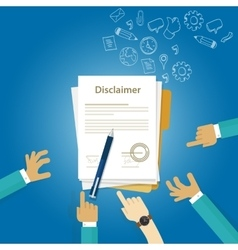 Disclaimer contract document signed vector