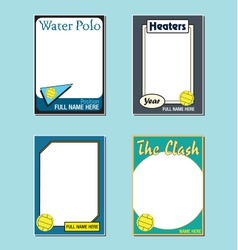 Water polo cards vector