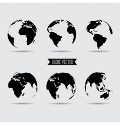 Set of world globe vector image