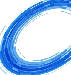 Abstract blue technology circles distorted vector