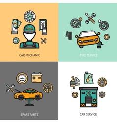 Auto service set vector