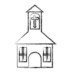 church icon image vector image vector image