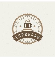 Coffee Shop Logo Design Element vector image vector image