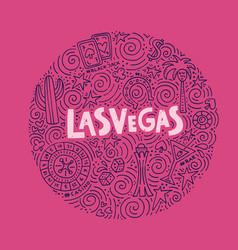 concept of las vegas vector image vector image