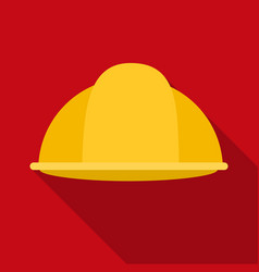 Construction helmet icon in flate style isolated vector