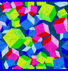 Cubes rhombus seamless pattern vector
