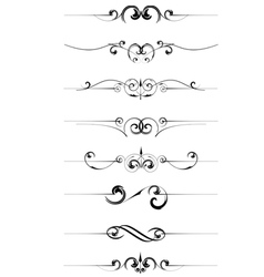 Decorative page rules vector