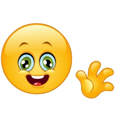 hello emoticon vector image