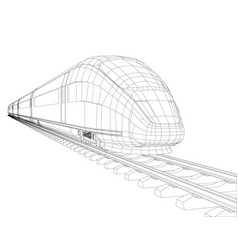 high speed train in motion vector image vector image