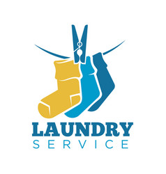 laundry icon or laundromat template of vector image