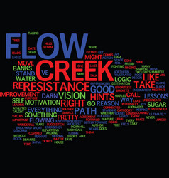 Lessons from the creek text background word cloud vector