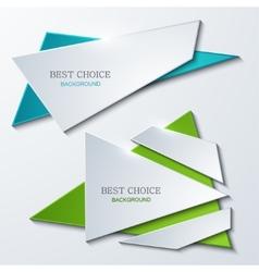 moder banners element design vector image