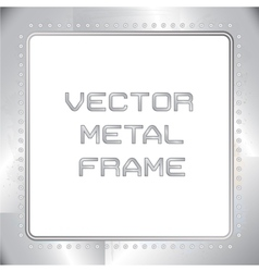 Old riveted metal frame vector