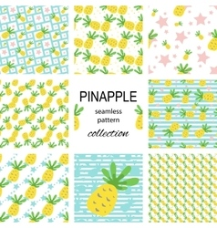 Seamless pineapple pattern vector