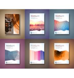 Set of 6 brochure template flyer design and vector