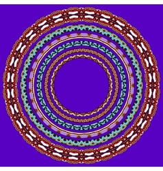 Set of violet colour round geometrical frames vector