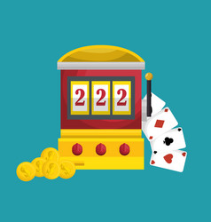 Slots machine casino icon vector
