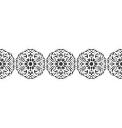 Snowflake Christmas seamless pattern Circular vector image vector image