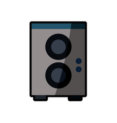 Speaker sound audio shadow vector