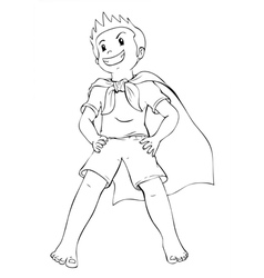 Superhero kid vector