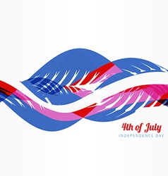 wave style american 4th of july vector image
