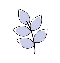 Leaf plant nature garden icon vector