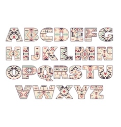 Set of ornate capital letters with abstract vector