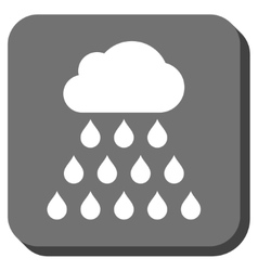 Rain cloud rounded square icon vector