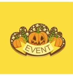 Halloween Event Template Label Cute Sticker vector image