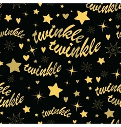Twinkle stars seamless pattern vector image
