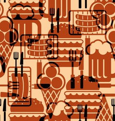 Food icons background vector
