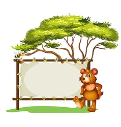 Honeybear signboard vector