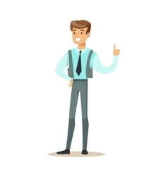 Man in vest with a tie part of office workers vector
