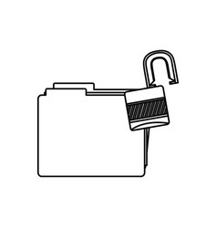 figure file and open lock icon vector image