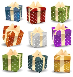 Colorful gifts vector