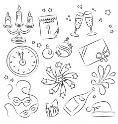 New years eve design elements vector