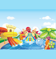 Water park big vector