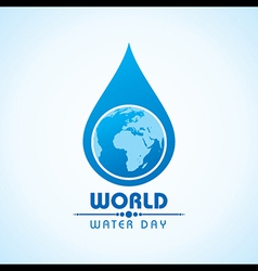 Creative world water day greeting vector