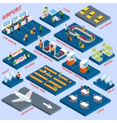 Airport isometric concept vector