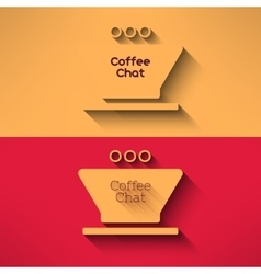Coffee cup made in modern flat design cafe vector