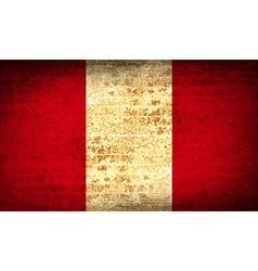 Flags peru with dirty paper texture vector