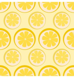 Seamless background with fruits vector