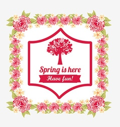 Hello spring design vector