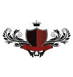 vintage emblem with shield vector image