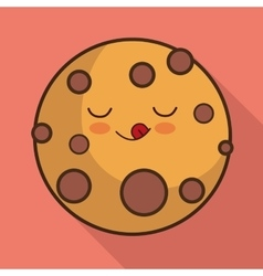 Breakfast design kawaii cookie icon vector