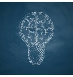 lightbulb icon vector image
