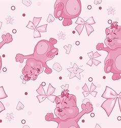 Pattern for Newborn Girl vector image